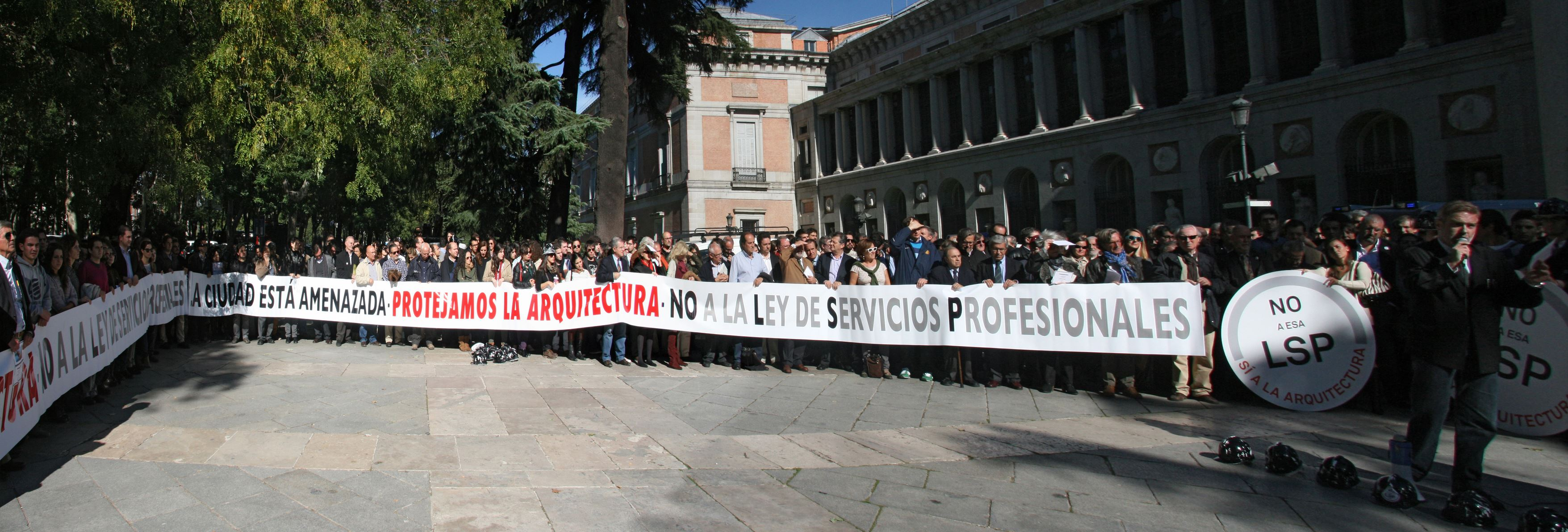 LSP y Arquitectura – Manifestación de Arquitectos en Madrid