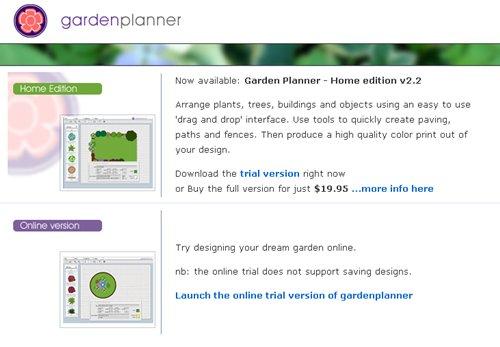 GardenPlanner diseño de jardines online